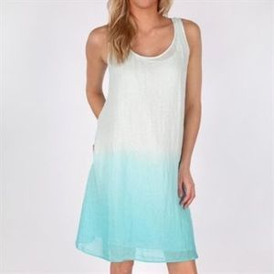 Eileen Fisher Ombré Layered Linen Dress